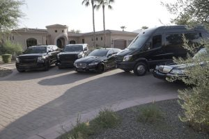 Scottsdale limo service fleet - Sprinter, limousine, Denali, Escalade, Jaguar, Party Bus