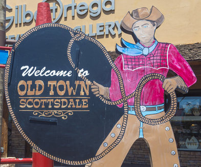 Historic Old Town Scottsdale cowboy sign