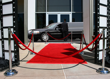 Scottsdale Limo driver in front of red carpet