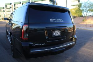 Scottsdale SUV chauffeur 2017 GMC Denali -backside