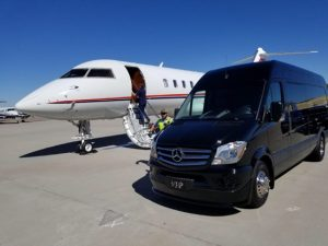 2017 Sprinter and Cadillac Escalade at Phoenix Sky Harbor transfer