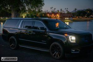 black SUV service Scottsdale - GMC Denali