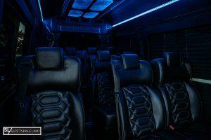 Scottsdale corporate Sprinter bus - interior 2