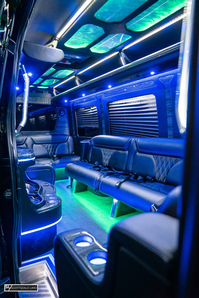 Scottsdale party bus Sprinter - interior
