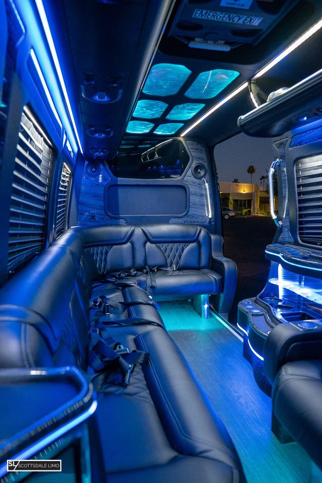 Scottsdale party bus Sprinter - interior 2