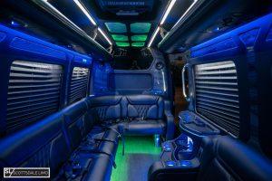Scottsdale party bus Sprinter - interior 3