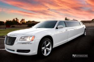 White Chrysler 300 Stretch Limousine - Scottsdale Limo