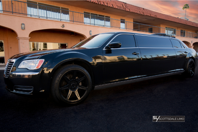 Black Stretch Limousine with Rims - Scottsdale Limo